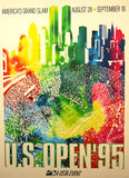 US Open 1995 poster on display at the Billie Jean King National Tennis Center Royalty Free Stock Image