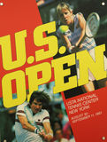 US Open 1983 poster on display at the Billie Jean King National Tennis Center Royalty Free Stock Photography