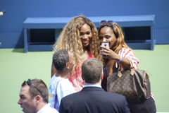 US Open selfie 2014 Stockfotos