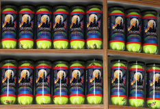US Open 2013 souvenir Wilson tennis balls Royalty Free Stock Photo