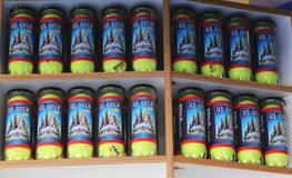 US Open 2014 souvenirs at the Billie Jean King National Tennis Center Royalty Free Stock Photos