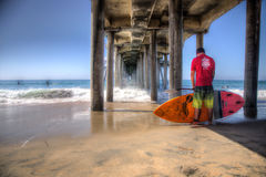 2015 us open Stoi Up Paddling, Huntington plaża Obrazy Royalty Free
