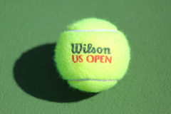 US Open Wilson tennis ball at Billie Jean King National Tennis Center in New York. Royalty Free Stock Photo