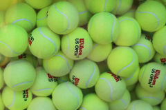 US Open Wilson tennis balls at Billie Jean King National Tennis Center Stock Image