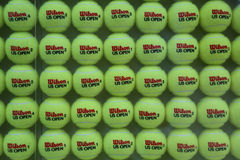 US Open Wilson tennis balls at Billie Jean King National Tennis Center Royalty Free Stock Photo