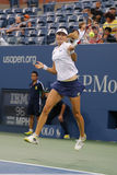 US Open 2014 women doubles champion Ekaterina Makarova during final match at Billie Jean King National Tennis Center Stock Photography
