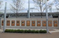 US Openhof van Kampioenen in Billie Jean King National Tennis Center in het Spoelen, NY stock foto