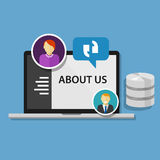 About us page concept icon data profile company Royalty Free Stock Photography