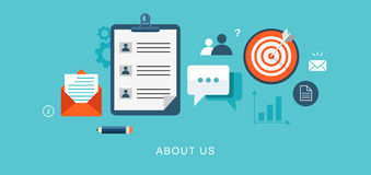 About us page flat illustration Royalty Free Stock Images