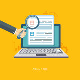 About us page flat illustration Royalty Free Stock Photography