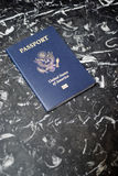 US passport. Close up view of a US passport royalty free stock photography