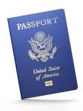 US passport. On white background Stock Image