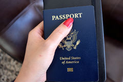 Us passport. Important document to travel around the world Royalty Free Stock Photos