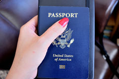 Us passport. Important document to travel around the world Royalty Free Stock Images