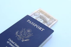 US Passport with Mongolian Tugrik Royalty Free Stock Images