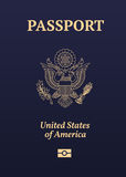 US passport seal. US passport illustration on white background Royalty Free Stock Photography