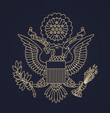 US passport seal. United States of America Passport Seal illustration royalty free illustration