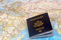 US Passport. United States of America Passport Travel World Royalty Free Stock Photos