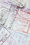 US Passport Visa Stamps Stock Image