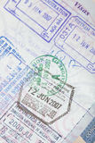 US Passport Visas Stamps Stock Photo
