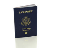 US Passport on white with clipping path Royalty Free Stock Image