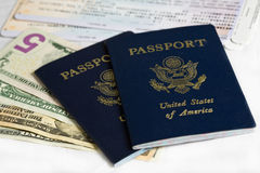 US passports Stock Photos