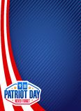 Us patriot day sign background illustration. Design graphic Stock Image