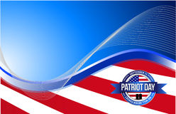 US patriot day sign illustration design Royalty Free Stock Photos