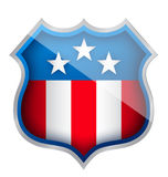 US patriotic security shield illustration design royalty free illustration