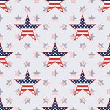 US patriotic stars seamless pattern on american. US patriotic stars seamless pattern on american stars background. American patriotic wallpaper. Repeated Royalty Free Stock Images