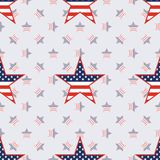 US patriotic stars seamless pattern on american. US patriotic stars seamless pattern on american stars background. American patriotic wallpaper. Tillable Royalty Free Stock Images