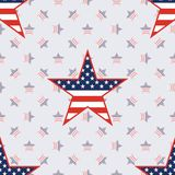 US patriotic stars seamless pattern on american. US patriotic stars seamless pattern on american stars background. American patriotic wallpaper. Surface pattern Royalty Free Stock Photos