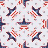 US patriotic stars seamless pattern on american. US patriotic stars seamless pattern on american stars background. American patriotic wallpaper. Grid pattern Royalty Free Stock Photos
