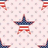 US patriotic stars seamless pattern on national. US patriotic stars seamless pattern on national stars background. American patriotic wallpaper with US Stock Images