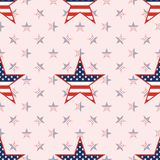 US patriotic stars seamless pattern on national. US patriotic stars seamless pattern on national stars background. American patriotic wallpaper with US Stock Photography