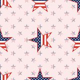 US patriotic stars seamless pattern on national. US patriotic stars seamless pattern on national stars background. American patriotic wallpaper. Wallpaper Royalty Free Stock Photos