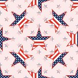 US patriotic stars seamless pattern on national. US patriotic stars seamless pattern on national stars background. American patriotic wallpaper with US Royalty Free Stock Image