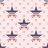 US patriotic stars seamless pattern on national. US patriotic stars seamless pattern on national stars background. American patriotic wallpaper. Wrapping Royalty Free Stock Photography