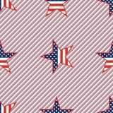 US patriotic stars seamless pattern on red and. US patriotic stars seamless pattern on red and blue stripes background. American patriotic wallpaper. Wallpaper Royalty Free Stock Photos