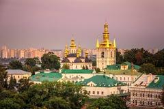 Kiev Pechersk Lavra. Us Pechersk Lavra Monastery shot at sunset in Kiev, Ukraine Royalty Free Stock Image
