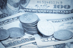 Us-pengarbakgrund Arkivbild