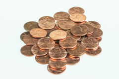US pennies piled up Royalty Free Stock Photo