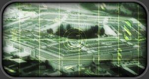 US Penntagon als Bereich targe (simuliert) Lizenzfreies Stockbild