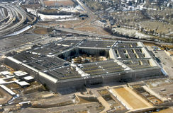 US Pentagon aerial view. US Government's Pentagon seen from above