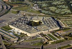 US Pentagon aerial view royalty free stock image