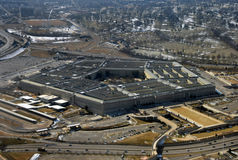 US Pentagon seen from above Stock Images