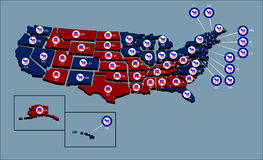 US Political Map Royalty Free Stock Images