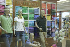Us polo assn cloth shop Stock Photography