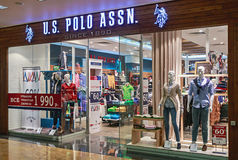 US Polo ASSN Store clothes in the mall Metropolis Stock Image