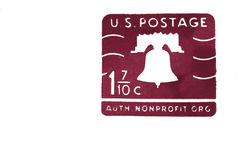 US postage stamp Royalty Free Stock Images